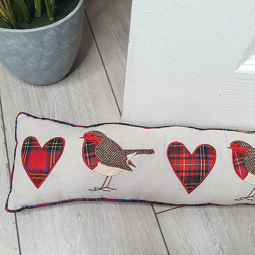 Tartan Red Robin Draught Excluder