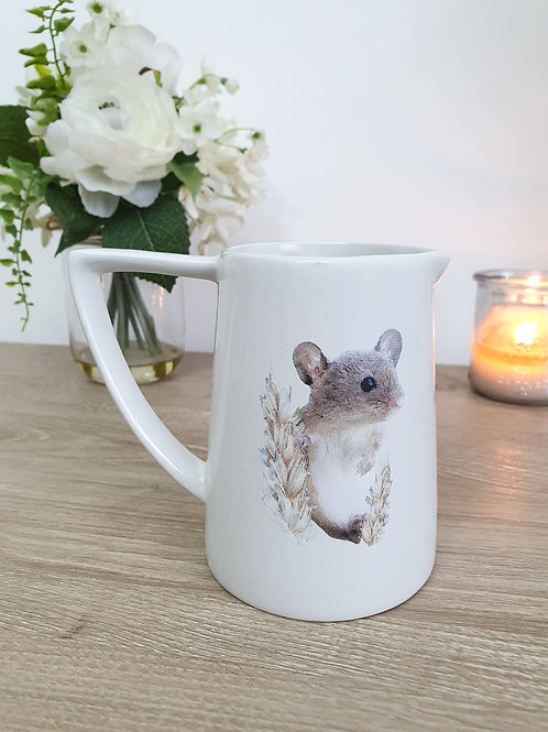 Cream Miniature Field Mouse Jug