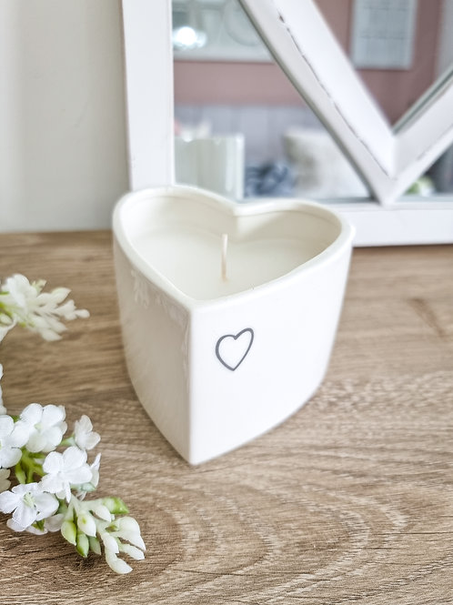 Heart Shaped Vanilla Scented Candle