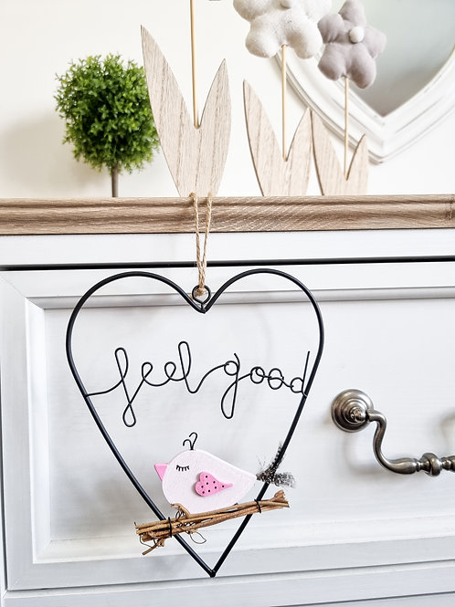 Sweet Hanging 'Feel Good' Heart
