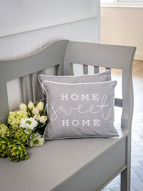 Dove Grey Home Sweet Home Cushion