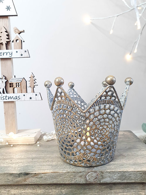 Nordic Gold Crown Candle Holder
