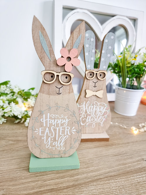 Cute Easter Bunny With Glasses