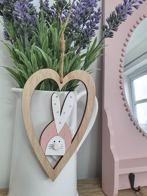 Heart Shaped Easter Bunny Hanger