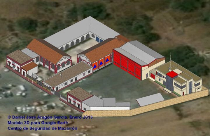 Vista aerea del conjunto 3D