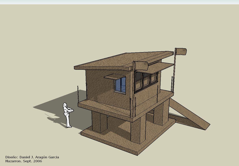 Diseño 3D puesto de Salvamento