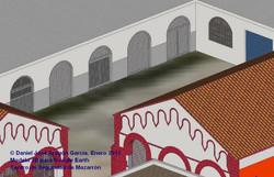 Detalle modelo 3D patio