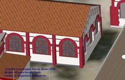 Detalle modelo 3D antigua estructura