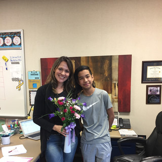 Flowers from student