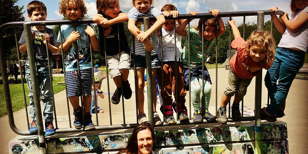 Minishredder Skateboard Kurs mit Sophie