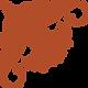 Orange Corner Textured Flower Icon