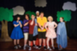 Cast of Charlie Brown play