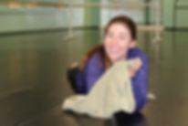 Dance instructor in dance studio