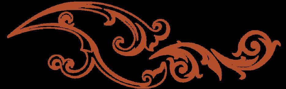 Orange floral accent