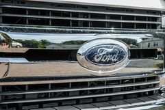 Ford logo on front of pick-up