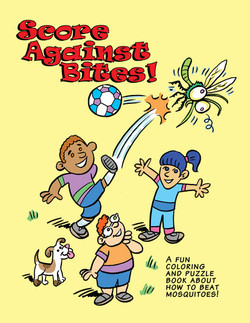 Score Against Bites coloring book