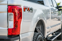 Taillight of silver Ford F250