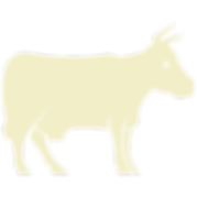 White Cow Icon