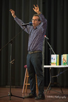 Eric Litwin performing on stage