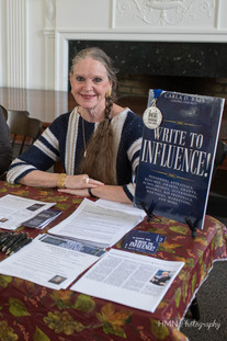 """Visiting author Carla Bass with her book """"Write to Influence!"""""""