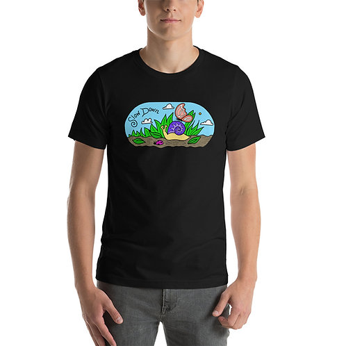 Slow Down Snail: Short-Sleeve Unisex T-Shirt