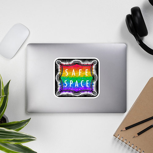Safe Space Rainbow Solo: Bubble-free stickers