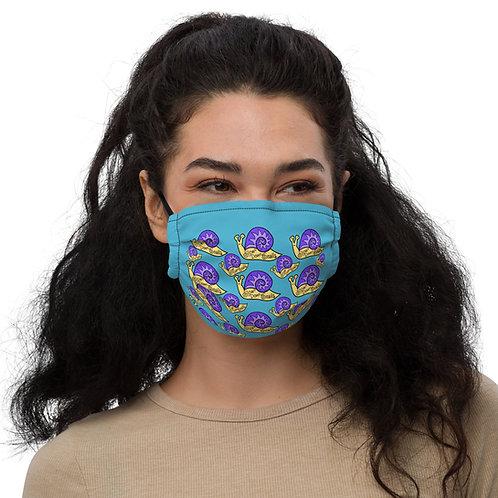 Slow Down Snails 24 Light Blue: Premium face mask
