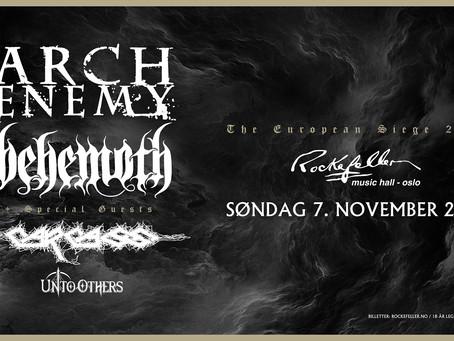 Arch Enemy, Behemoth til Oslo