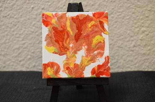 3 x 3 Original Acrylic on Canvas [Easel Inc.]