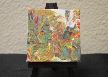 3 x 3 Original Acrylic on Canvas. [Easel Inc.]