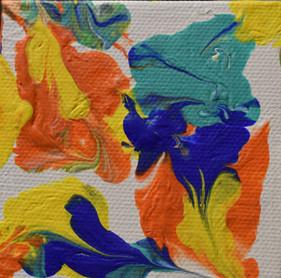 3 x3 Original Acrylic on Canvas [Easel Inc.]