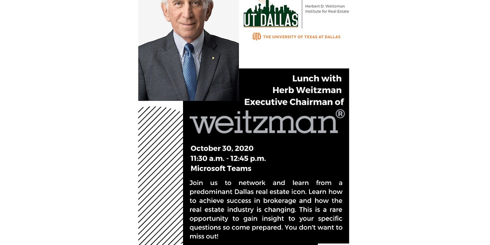 Lunch with Herbert D. Weitzman
