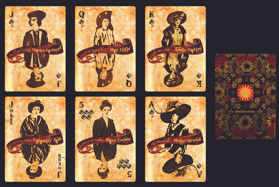 Women of the West Playing Cards