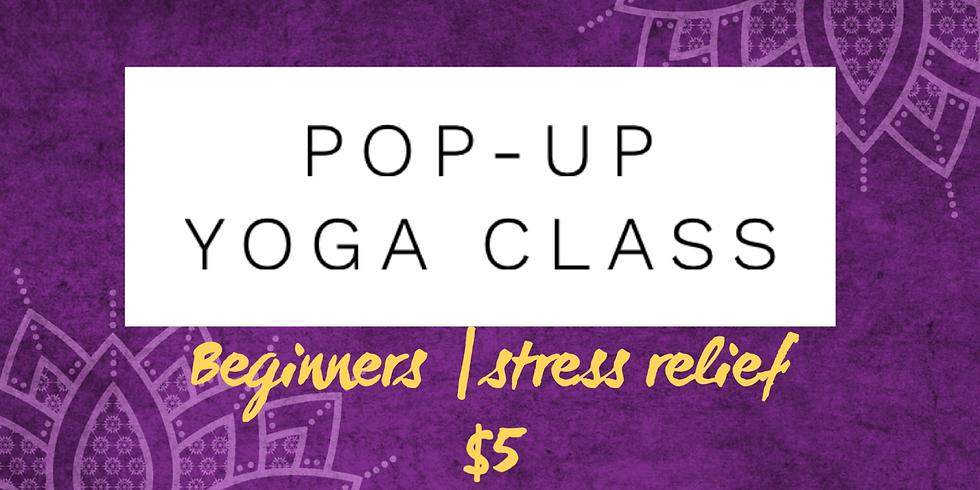 $5 Beginner Yoga Pop-Up class