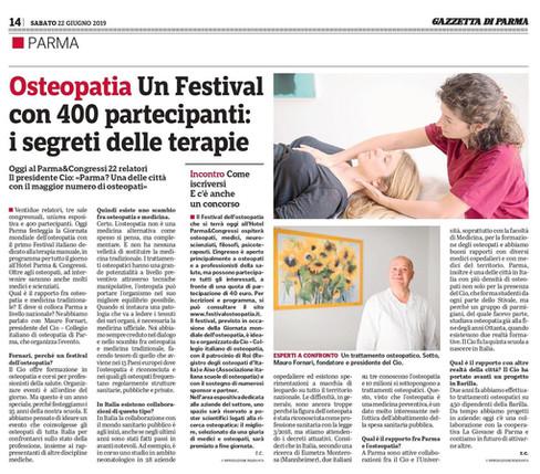 Rassegna Stampa - Festival dell'Osteopatia