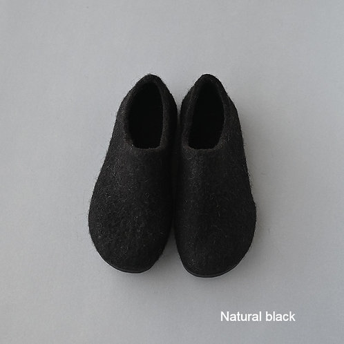 Wool felted room shoes