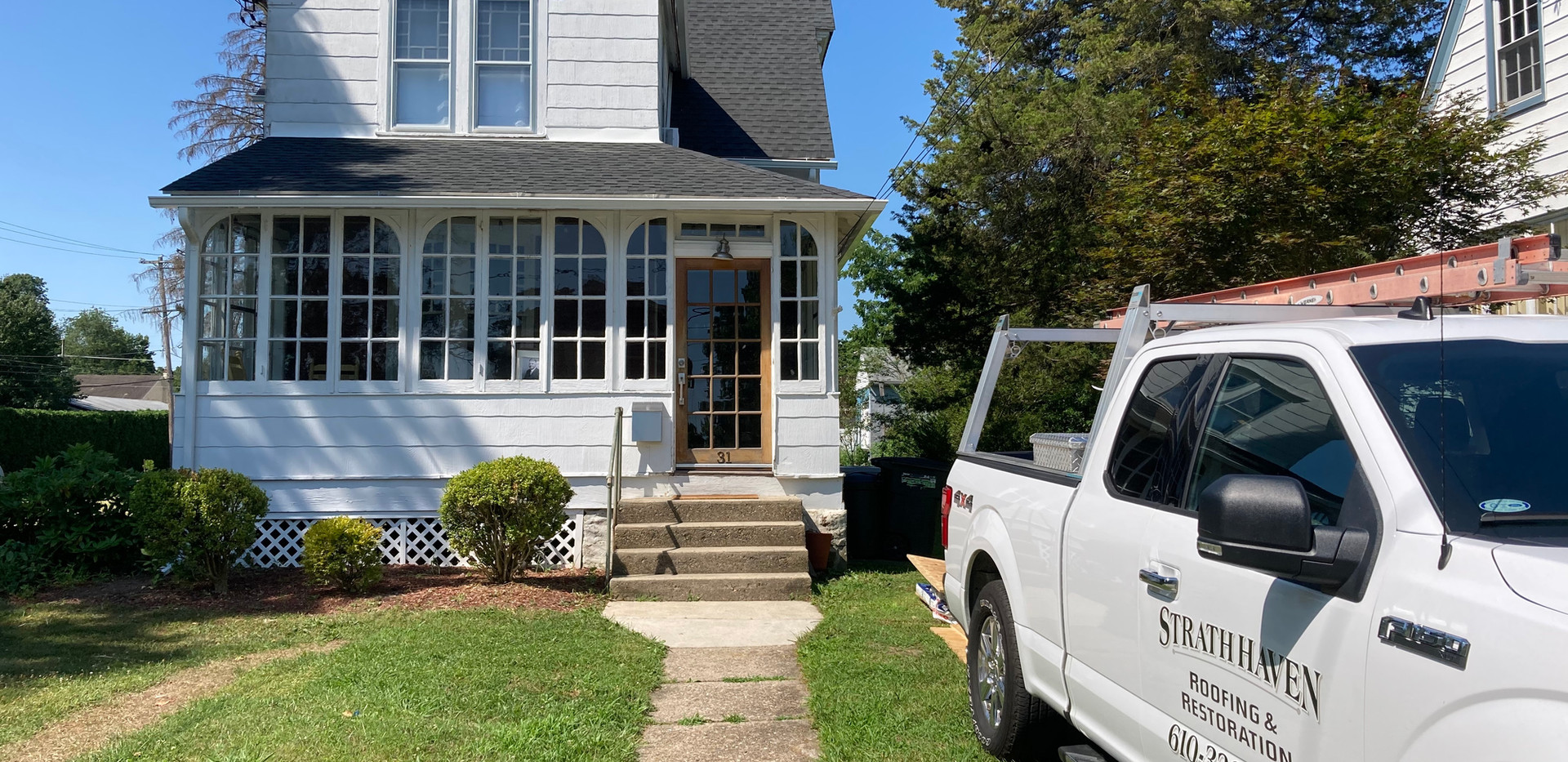 Rutledge, PA - gutters and roof construc