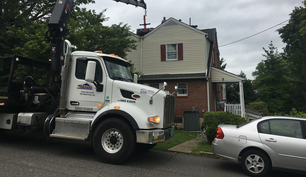 Wallingford, PA - New roof and wall repair / siding installation