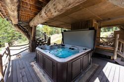 Salt water hot tub