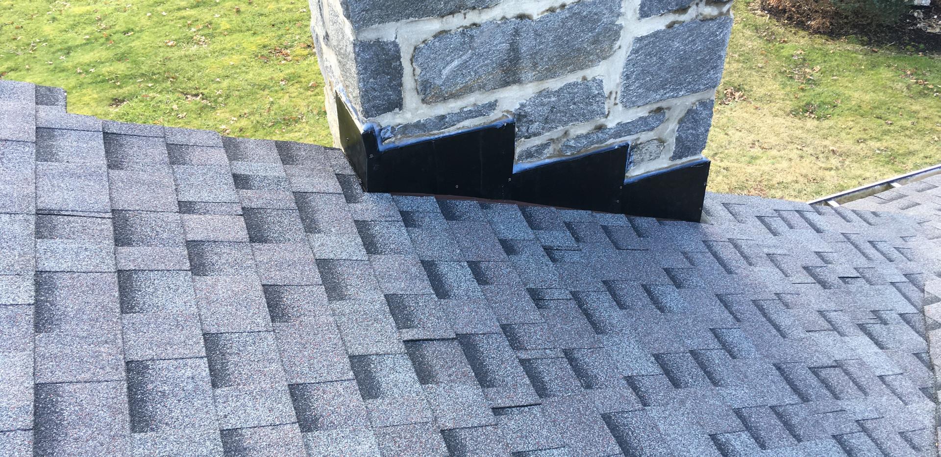 Wallingford, PA - close up asphalt shingles