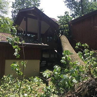 roof damage from storm - Media, PA