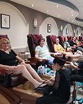 Pedicure party in the Sittin Pretty salon