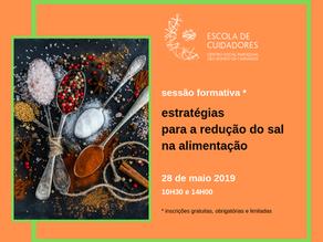 """Escola de Cuidadores promove sessão formativa sobre """"estratégias para a redução do sal na alime"""