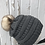 Thumbnail: Dark Mel Gray knit hat with Opossum pompom