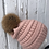 Thumbnail: Indi Pink, Knit hat with Red Fox Pompom