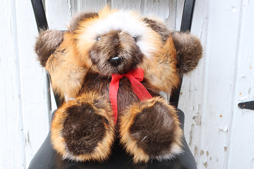 Fox/ Beaver Fur Teddy Bear
