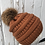 Thumbnail: Rust knit hat with Red Fox pompom