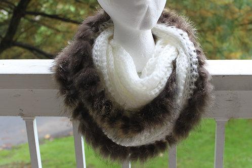 raccoon infinity scarf