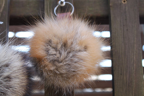 Fur key chain pompom