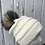 Thumbnail: Ivory, Knit hat with Opossum Pompom